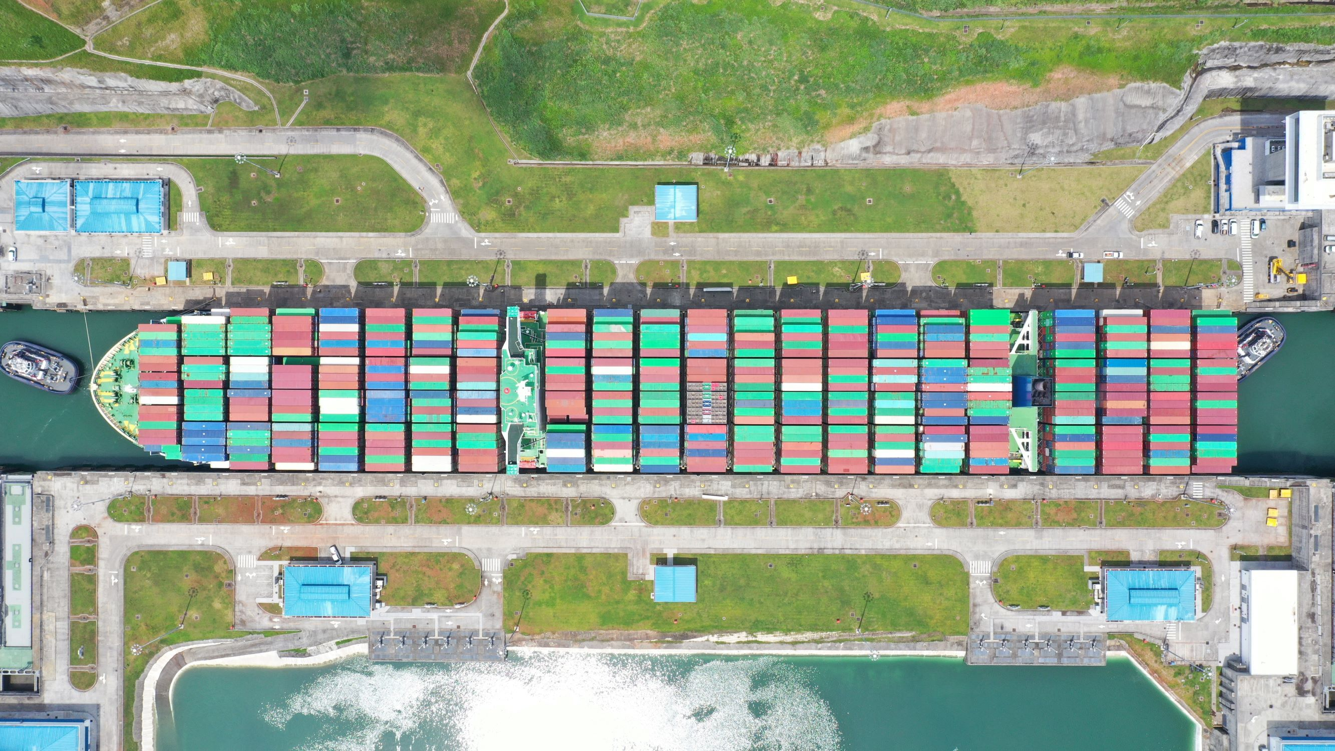 C/V Thalassa Elpida transiting the Panama Canal