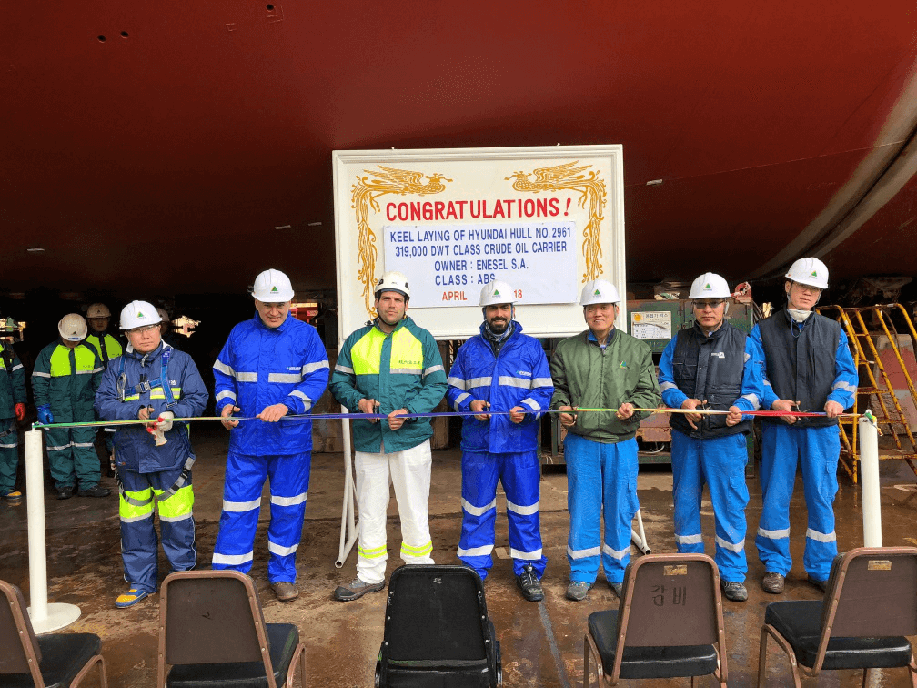 Keel laying of newbuilding VLCC H.N. 2961